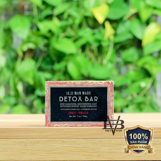 18.21 Man Made Detox Bar - Xà bông cục 18.21 Man Made Detox Bar cho nam 100% USA