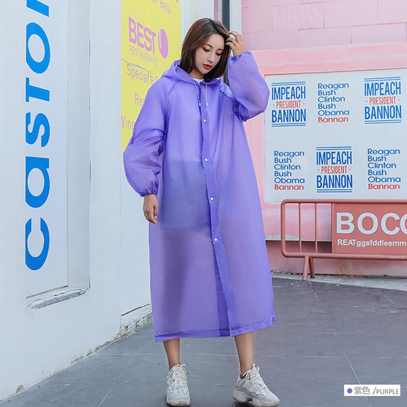 Áo mưa nhựa EVA màu sắc kẹo ngọt