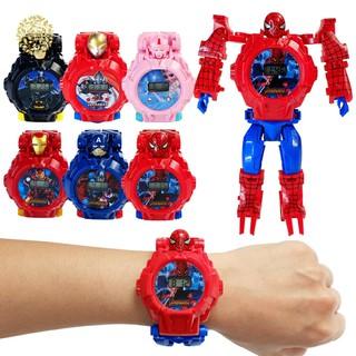 [Mã FAMAYFA2 giảm 10K đơn 50K] Đồ chơi - Đồng hồ robot lắp ráp biến hình siêu nhân cá tính cho bé
