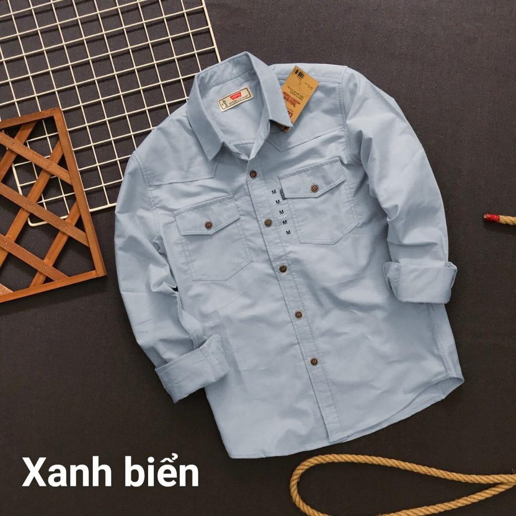 Áo sơ mi nam FREESHIP ao so mi oxford dài tay có túi cao cấp phong cách công sở và dạo phố Liyor - TASM3018