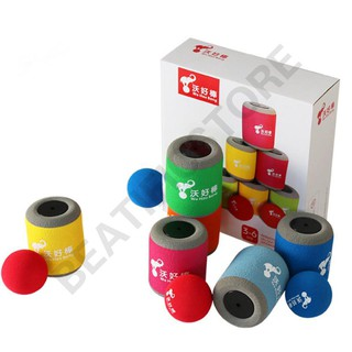 1 Set Shooting Ball Can Target Toys Cylinder Shaped Educational Kids Gifts