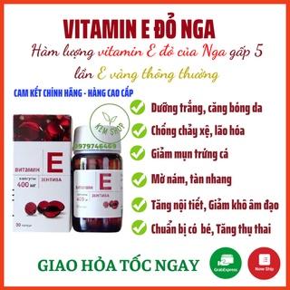[CAM KẾT CHÍNH HÃNG] Vitamin E đỏ, viên uống đẹp da vitamin E đỏ Nga, hàm lượng 270mg và 400mg làm đẹp, hỗ trợ nội tiết thumbnail