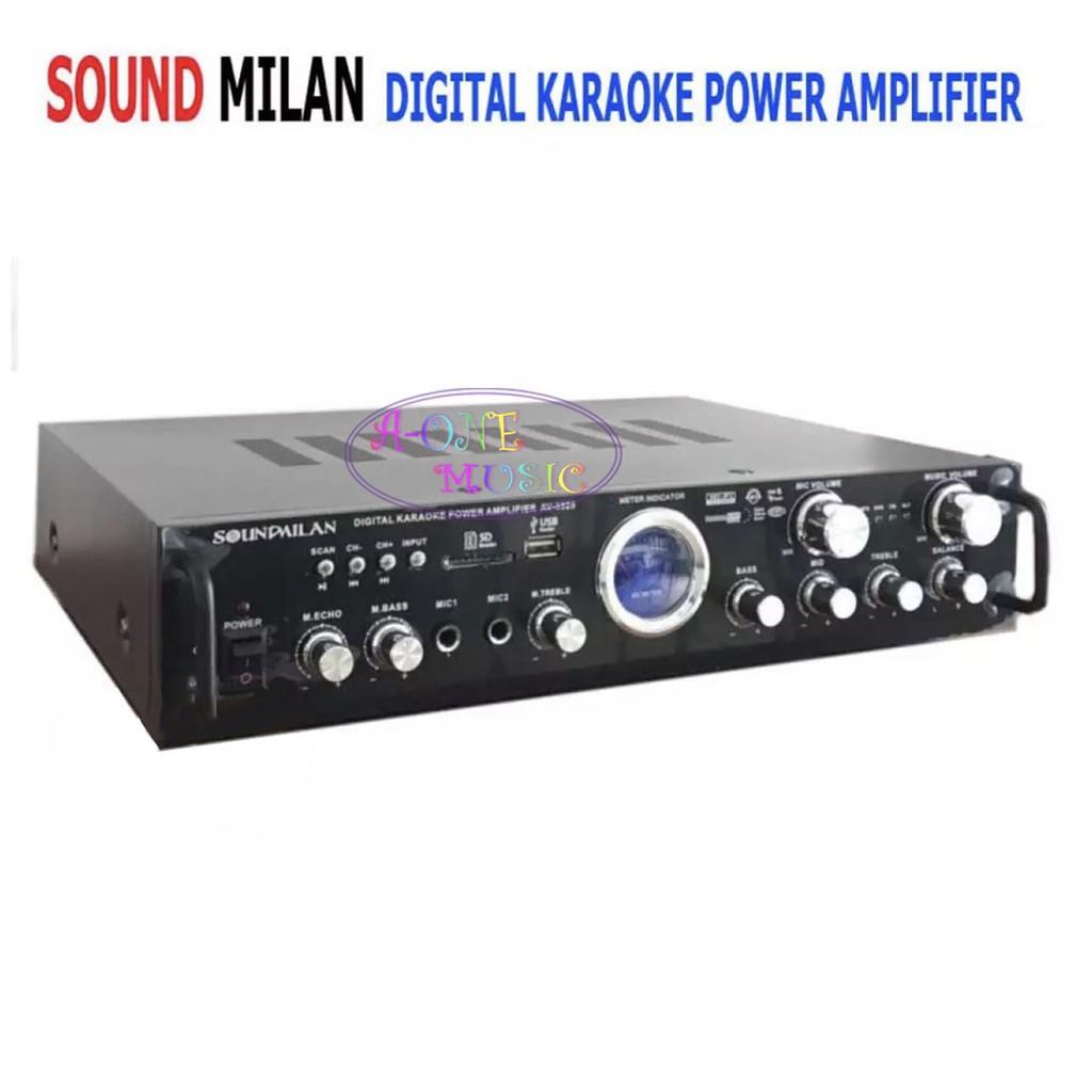 SOUND MILAN DIGITAL KARAOKE POWER AMPLIFIER มี BLUETOOTH USB SD CARD FM รุ่น AV-3325