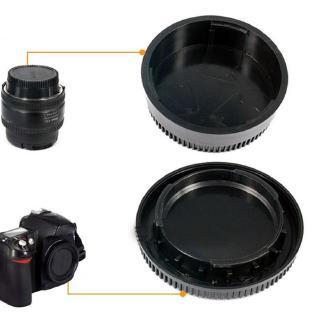 Set nắp đóng ống kính + vỏ bảo vệ ống kính máy ảnh 58*22mm cho camera Nikon DSLR