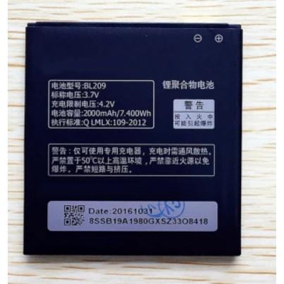 Pin Xịn Lenovo BL-209 cho máy A516/ A706/ A760/ A630e/ A820e - Bảo hành 6 tháng