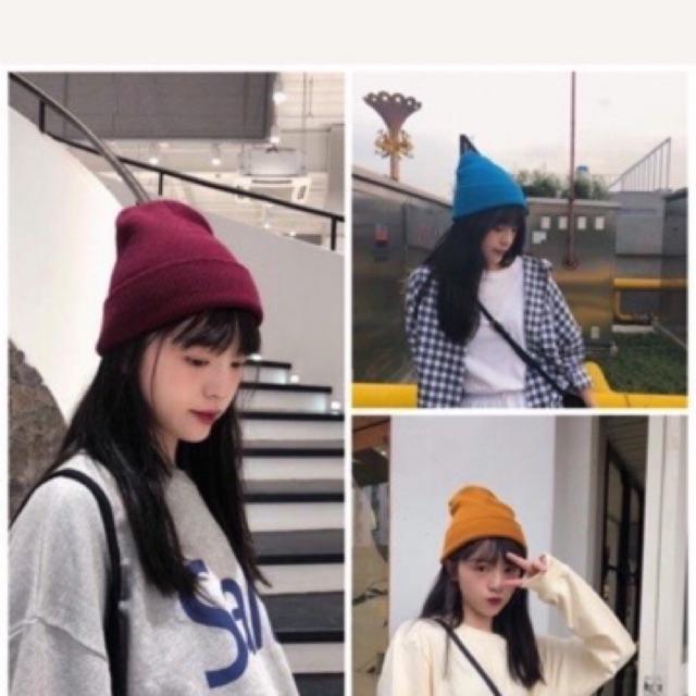 Sỉ Mũ Len Beanie Cá Tính - Nón Len Trơn Hàn Quốc Thời Trang