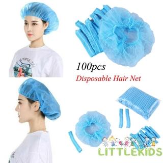 ✦LD-100x Disposable Head Cover Cap Hat Hair Net Non Woven Anti Dust Hats Spa