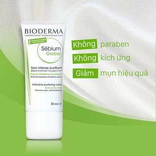Kem dưỡng da điều trị mụn trứng cá và giảm sẹo do mụn BIODERMA Sébium Global 30ml (Dành cho da dầu mụn)
