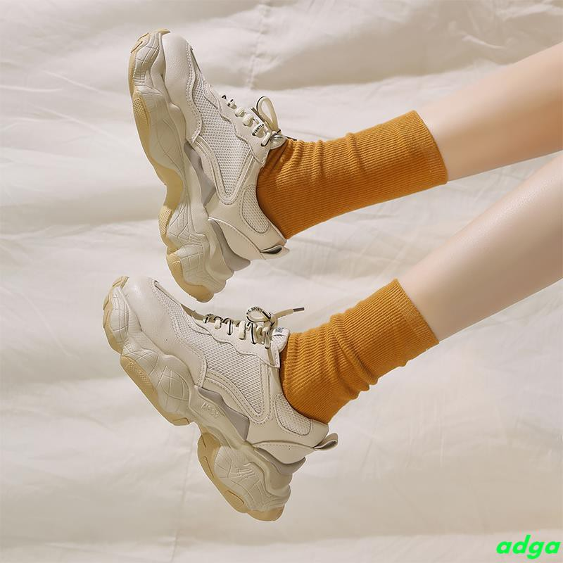 Old shoes female ins tide black net red 2019 spring wisdom smoked shoes Korean ulzzang student super fire sports shoes