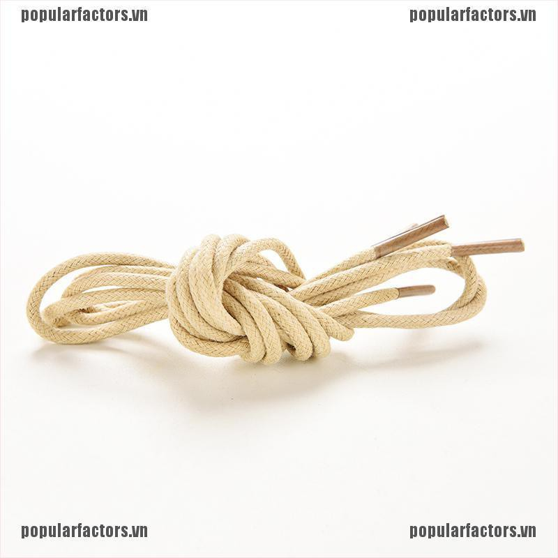 [Popular] Multi Color Cotton Waxed Round Cord String Dress Shoe Laces 85cm 1 Pair [FS]