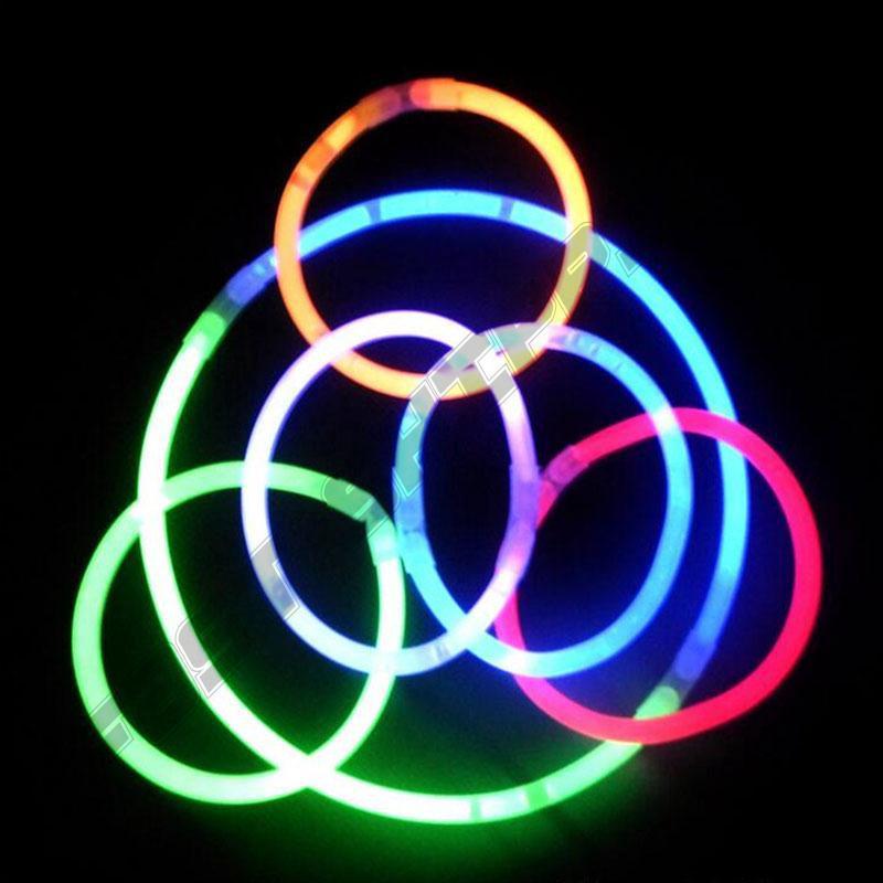 50Pcs Glow Stick Light Flourescence Necklace Bracelet Disposable Party