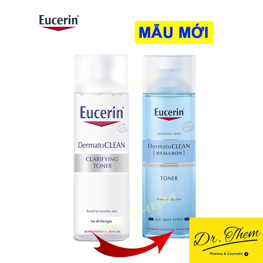 ✅[CHÍNH HÃNG] Nước Hoa Hồng Eucerin Cho Da Nhạy Cảm  Eucerin  DermatoCLEAN HYALURON Toner Eucerin 200ml - Nước Cân Bằng