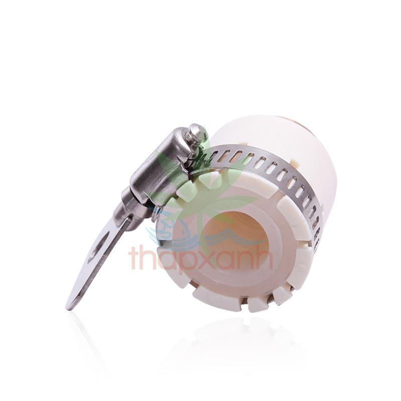 Bộ 2 Đầu nối nhanh 16- ren 21mm có đai siết bằng ĐỒNG, Khớp nối nhanh, Đai siết cổ dê vòi nước, Đai nối vòi nước