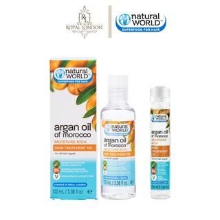 Dầu dưỡng tóc Argan oil of Morocco NATURAL WORLD 25ml - 100ml