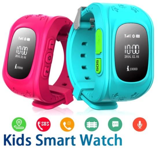 Đồng hồ định vị thông minh Q50 An Toàn cho trẻ em Màu Hồng