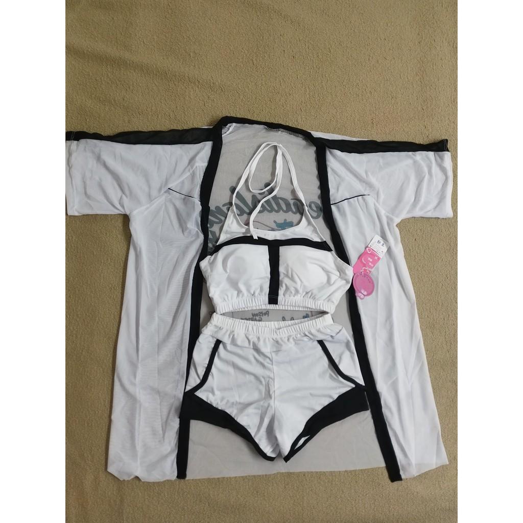 (Hàng có sẵn) Bikini 3 mảnh sexy màu pastel tôn da đi biển xinh xăn