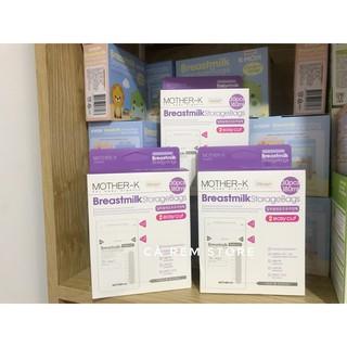 Túi trữ sữa cảm ứng nhiệt miệng cắt MotherK Hàn Quốc (30c)