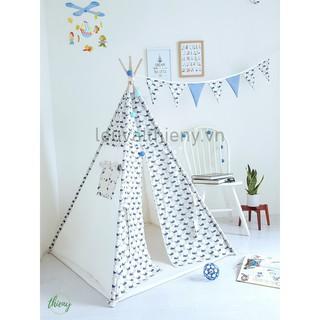 Lều vải Thiên Ý vải cotton 100% canvas gỗ tự nhiên an toàn cho trẻ