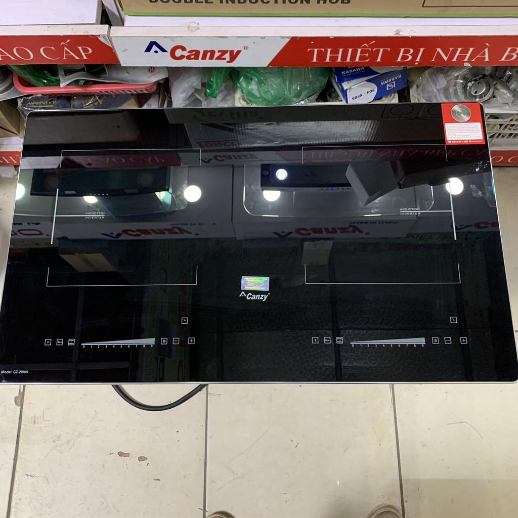Bếp từ đôi Canzy CZ 29HN ✅Công nghệ Inverter cao cấp -Kính K+ bo viền nhôm cao cấp -Bảo hành chính hãng 3 năm toàn quốc