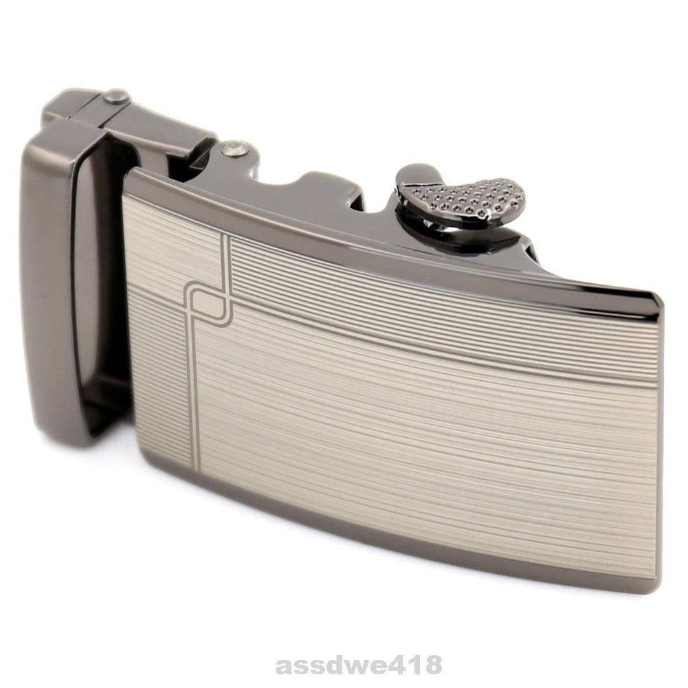 Anti Scratch 3.6cm Width Automatic Slide Zinc Alloy Men Belt Buckles