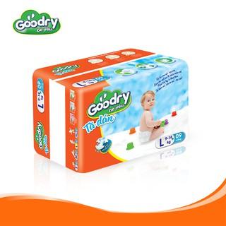 Tã dán Goodry size L09 công nghệ Nhật Bản màng đáy thoáng khí