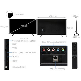 Smart Tivi Samsung 4K 70 inch UA70RU7200