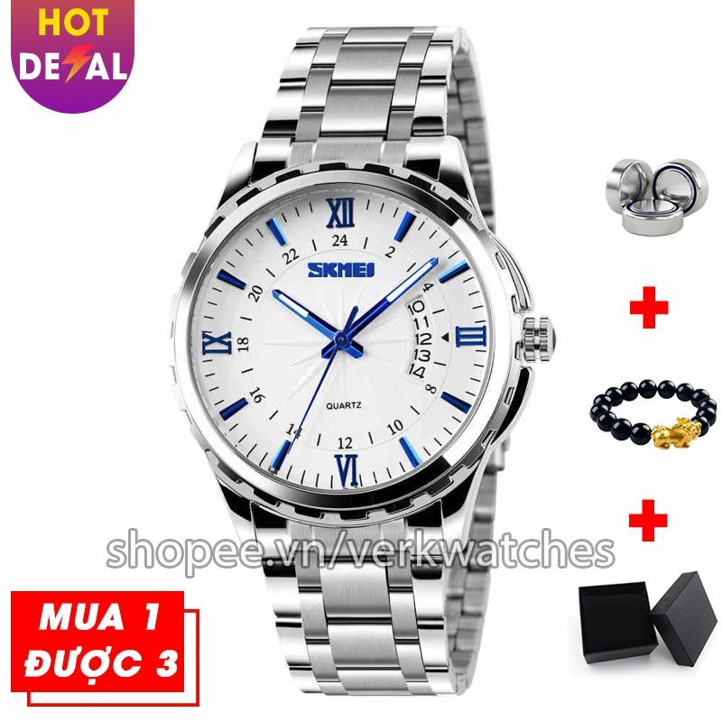 Đồng hồ nam cao cấp dây thép không gỉ chống nước SKMEI VK014 - Verk Watches
