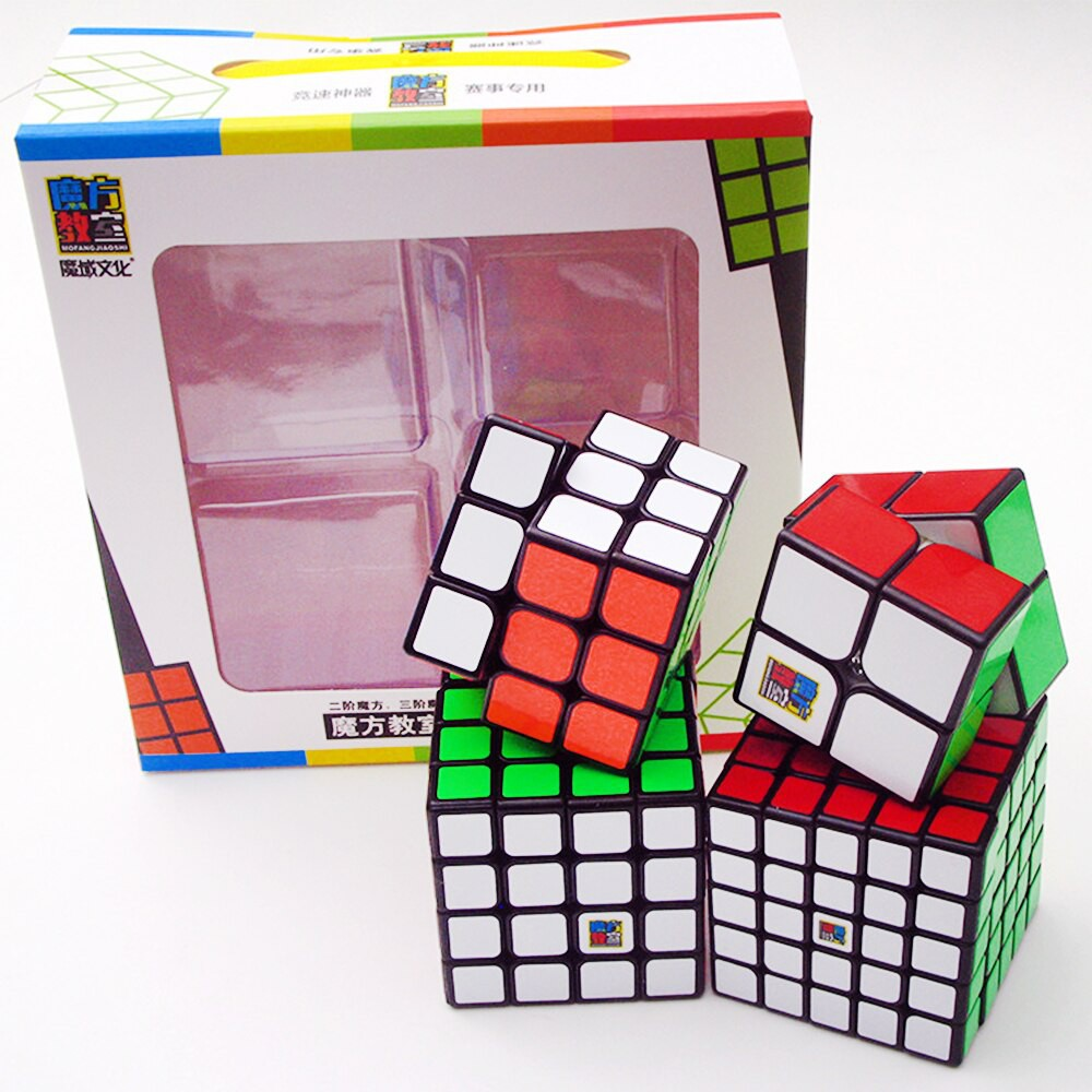 Combo 4 Rubik 2×2 3×3 4×4 5×5 Gift Box