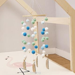 Baby Decoration Hanging Nursery With Felt Balls Wind Chimes