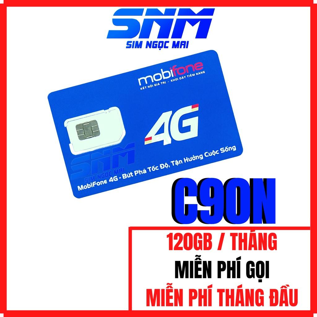 (FREESHIP) Sim 4G Mobifone C90N - FV119 Free Tháng Đầu - 4GB/NGÀY - 120GB DATA TỐC ĐỘ CAO - MIỄN PHÍ GỌI - SIM NGỌC MAI