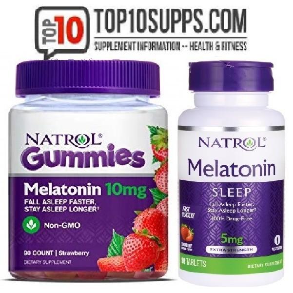 Hình ảnh Kẹo ngậm ngủ ngon Melatonin Natrol 5mg 150 viên, 10mg 90 viên gummies (Date 2020)-0