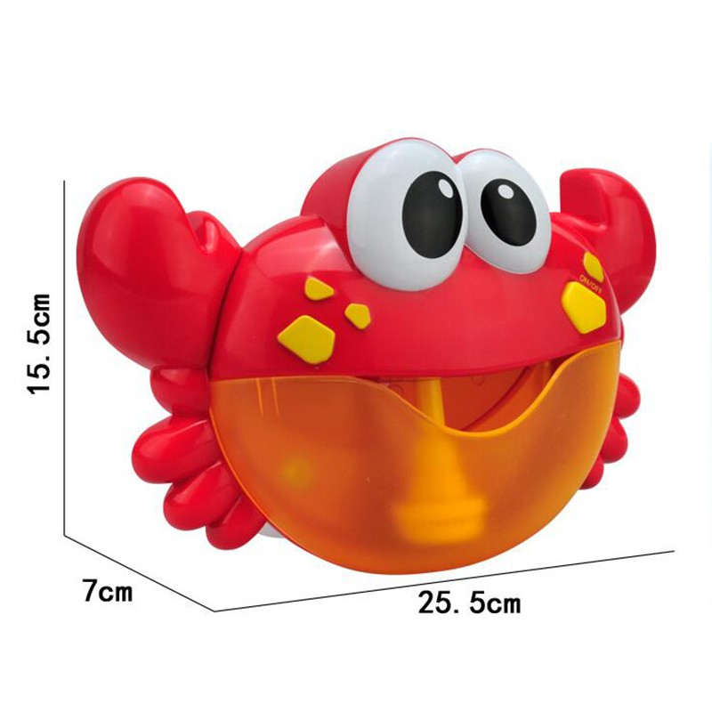 ❀GIÁ RẺ❀Funny Music Crab Bubble Blower Machine Electric Automatic Crab Bubble