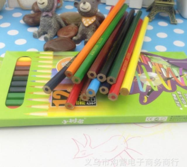 Bộ bút chì 12 màu dài