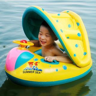 [Freeship] Phao bơi xỏ chân có mái che nắng cho bé trai, bé gái