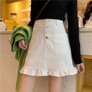 Chân Váy Đuôi Cá Dáng Chữ A Lưng Cao Thời Trang Cho Nữ