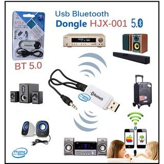 Usb bluetooth 5.0 cho loa và ampli hjx-001 phạm vi hoạt động 8 đến 10m biến loa thường thành loa bluetooth