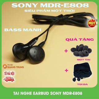 Tai nghe Sony MDR-E808,E804,E808+siêu cổ,siêu cũ,siêu bass Tặng mút và túi da