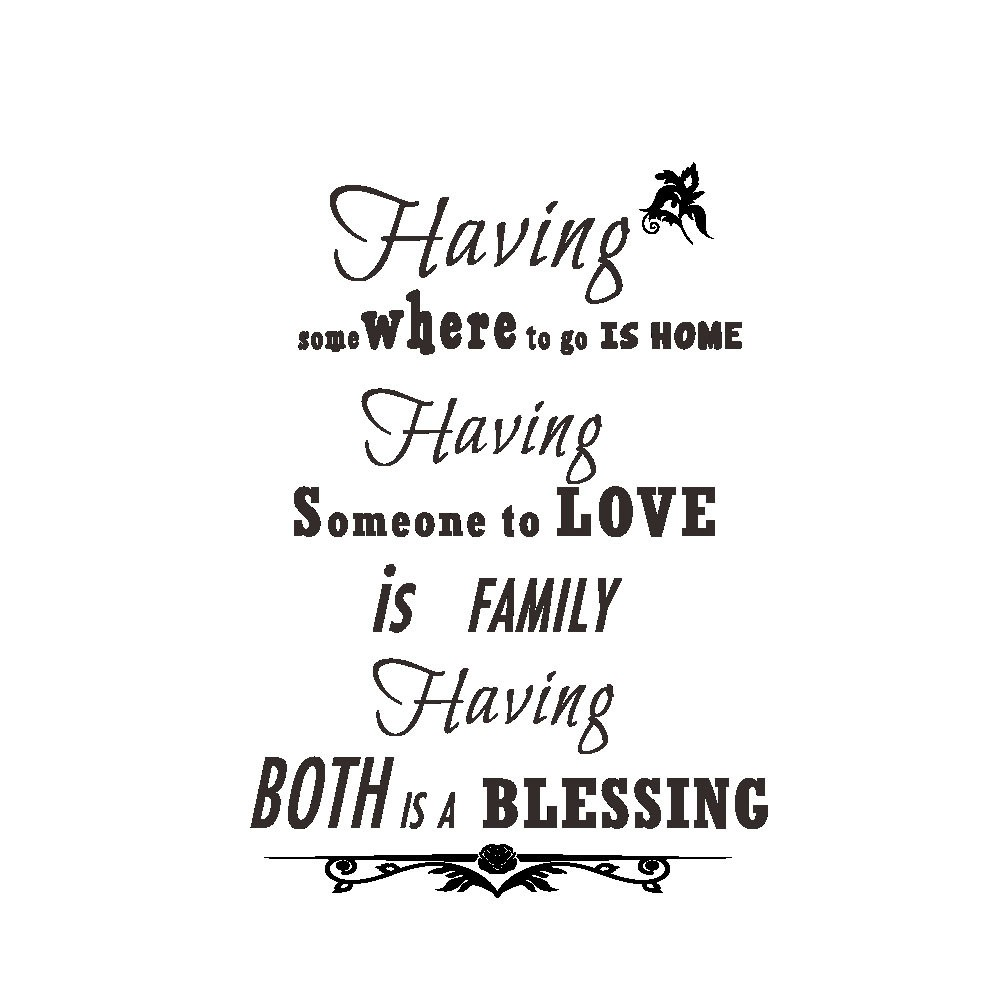 DIY Having Family Wall Stickers Art Vinyl Removable Decal Home Room Decor Mural