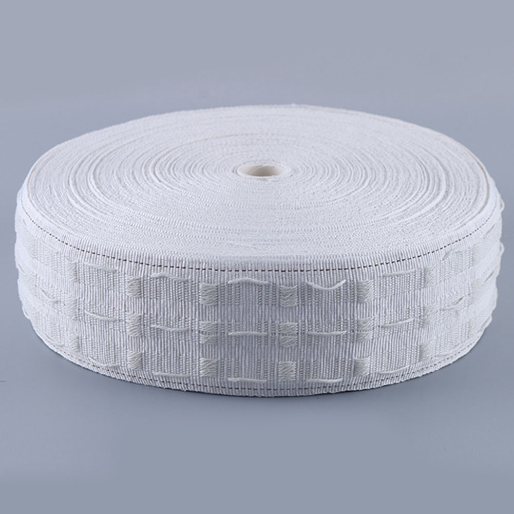 10M Curtain Ring Tape Punching Hook Cloth Pleat Pull Belt Eyelets Grommet