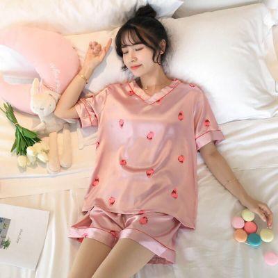 Mặc gì đẹp: Gọn tiện với Đồ Bộ Nữ Mặc Ở Nhà Vải Lụa - Bộ Đùi Ngủ Nữ Mùa Hè