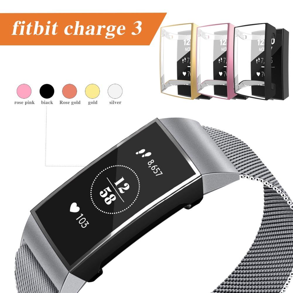 Vỏ Tpu Trong Suốt Bảo Vệ Chống Trầy Cho Đồng Hồ Thông Minh Fitbit Charge 3 Band