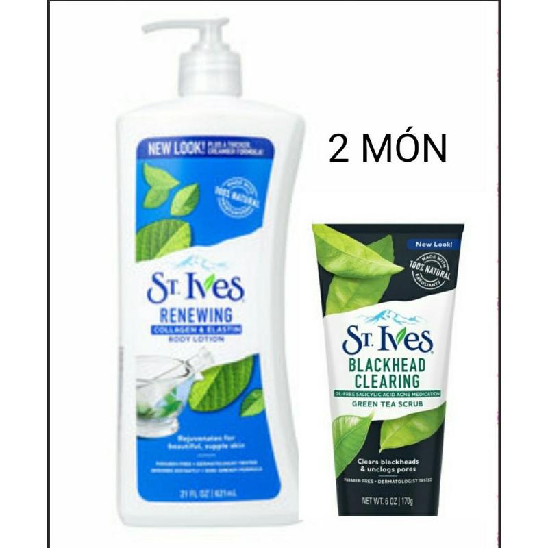 Sữa dưỡng thể toàn thân yến mạch và bơ hạt mỡ St.Ives BodyLotion 621ml