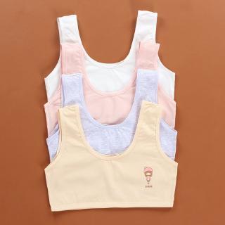 Áo Lót Cotton Dây Bản Rộng 5 Màu Cho Bé Gái Từ 8-16 Tuổi