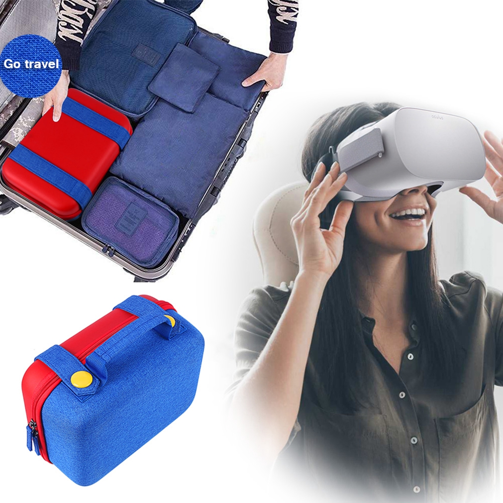 Storage Bag Travel Protective Padding Hard Shell Large Capacity Cute Carrying For Oculus Go VR