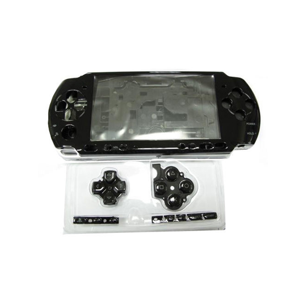 Repair Game Console Durable Practical Portable Transparent Full Case Housing Shell Lightweight With Button For PSP3000