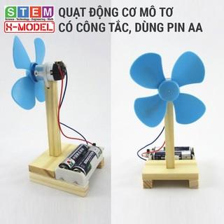 Đồ chơi sáng tạo STEM tự làm quạt động cơ mô tơ có công tắc XMODEL Đồ chơi tự làm Do it Yourself DIY Giáo dục STEM