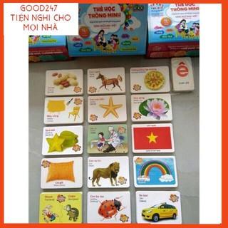 [GOOD247 GIẢM 5K ĐƠN 150K] Bộ thẻ học song ngữ 16 chủ đề, bộ thẻ flashcard cho bé (hàng đẹp)