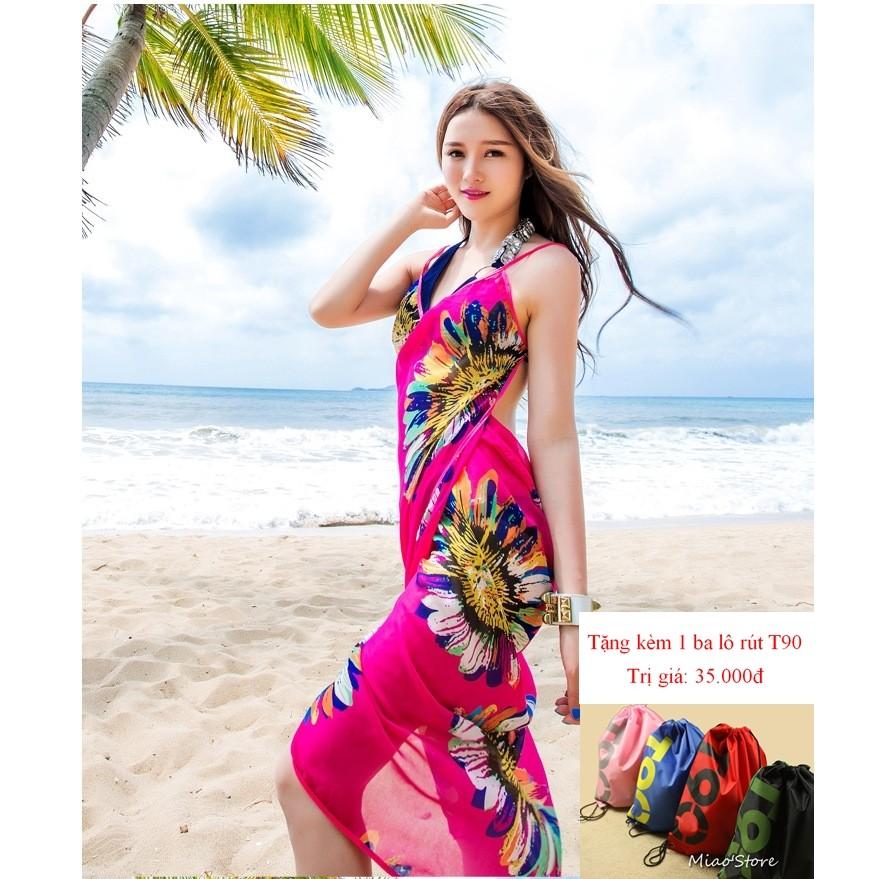 Khăn choàng sarong đi biển tặng kèm 1 balo rút T90 - 2925375 , 207138811 , 322_207138811 , 99000 , Khan-choang-sarong-di-bien-tang-kem-1-balo-rut-T90-322_207138811 , shopee.vn , Khăn choàng sarong đi biển tặng kèm 1 balo rút T90