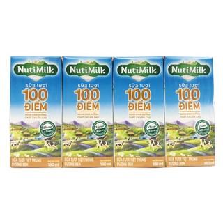 Thùng 48 hộp Sữa tươi tiệt trùng Đường đen NutiMilk 180ml
