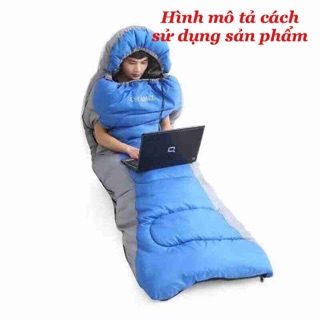 Túi ngủ văn phòng size to có nón và tay (thò được tay tiện lợi)